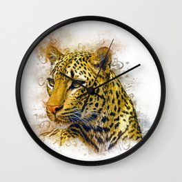 Leopard Art Wall Clock