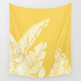 Banana Leaves on Yellow #society6 #decor #buyart Wall Tapestry