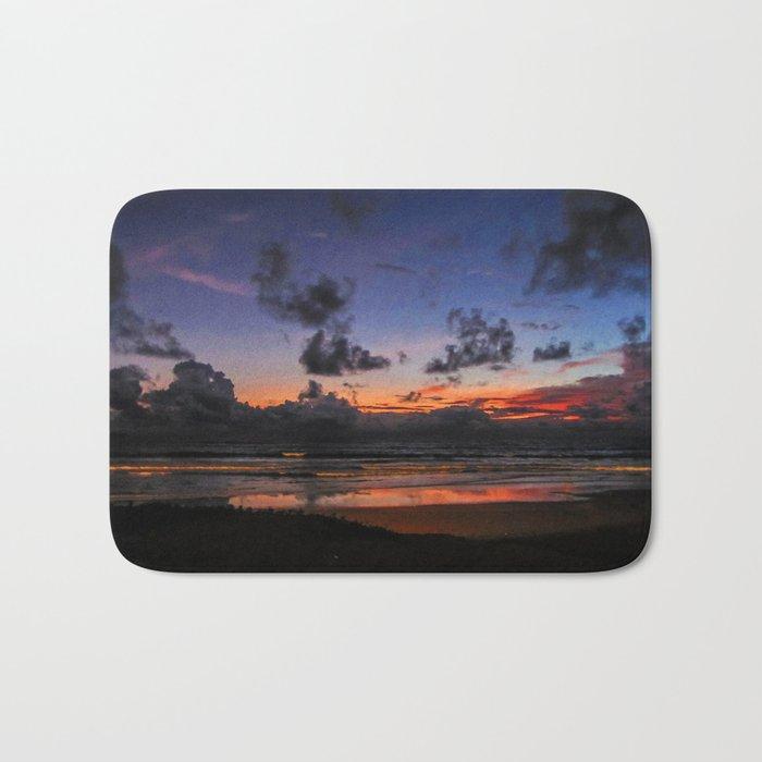 Beach Sunset - Painted Effect Bath Mat