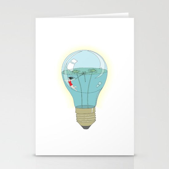 Life in a lightbulb. Day Stationery Cards
