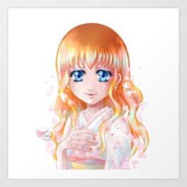 Hana floraison Art Print