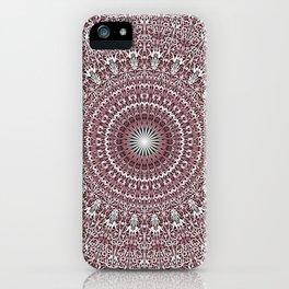 Light Pink Floral Mandala iPhone Case