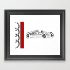 RennSport Speed Series: The Four Rings Framed Art Print