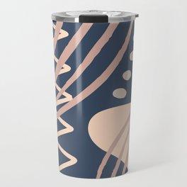Abstract Neutrals Pallet Travel Mug