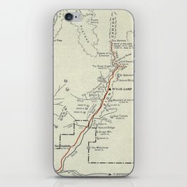 Vintage Zion National Park Map (1919) iPhone Skin