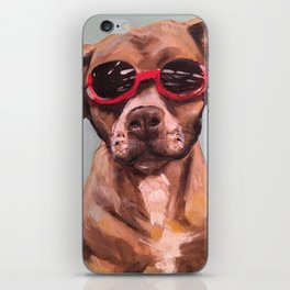 Doggles, the dog who wears goggles iPhone Skin