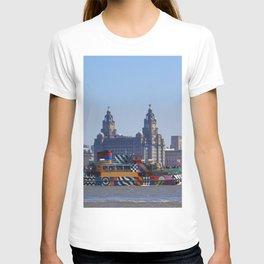Liverpool Waterfront Skyline T-shirt