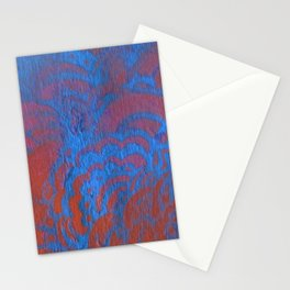 Drawing Meditation: Stencil 1 - Print 10 (blue) Stationery Cards