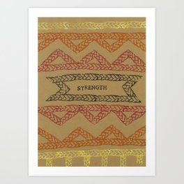 STRENGHT ELM THE PERSON Art Print