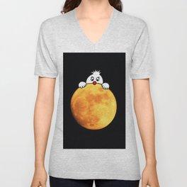 Man in the Moon Unisex V-Neck