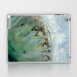 Marble teal & gold ocean Laptop & iPad Skin