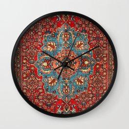Bidjar Antique Kurdish Northwest Persian Rug Print Wall Clock