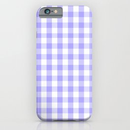 Melrose Purple Gingham  iPhone Case