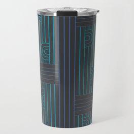 art deco stripe Travel Mug