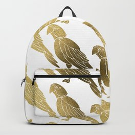 Perched Parrot – Gold Palette Backpack