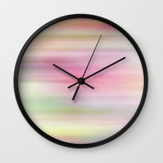 Rainbow Drop Blur Wall Clock