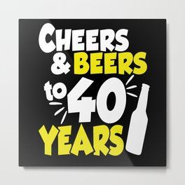 40 Birthday 40 Years Vierzieg 1980 Metal Print