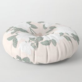 Gardenias on Peach Floor Pillow