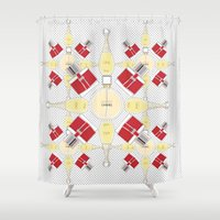 perfume Shower Curtains featuring perfume lover  by Alaasparks