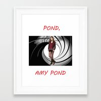 amy pond Framed Art Prints featuring Pond, Amy Pond by DarkCrow
