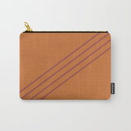 Red and Orange Diagonal Line Pattern Pairs HGTV 2021 Color of the Year Passionate Carry-All Pouch