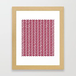 Herringbone - Red Framed Art Print