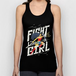 Fight like a girl Unisex Tank Top