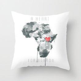 A Heart For Uganda Throw Pillow