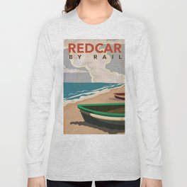 Redcar by rail - British railway travel poster Long Sleeve T-shirt