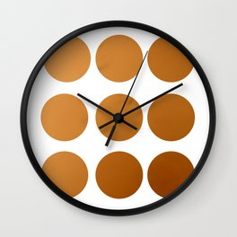 Summer Orange sky Wall Clock