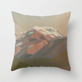 Aconcagua / Mountain Art Throw Pillow