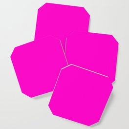 Fluorescent neon pink | Solid Colour Coaster