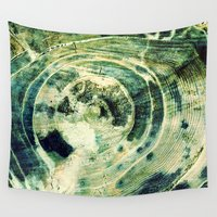 labyrinth Wall Tapestries featuring Green Labyrinth by artstrata