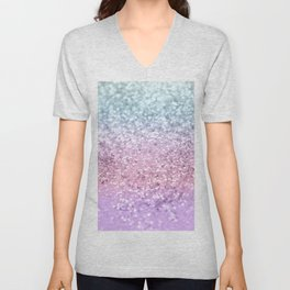 Unicorn Girls Glitter #4 #shiny #pastel #decor #art #society6 Unisex V-Neck