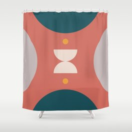 Abstract shapes 4 (Geometric half moon) Shower Curtain