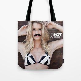 Mustache Movember Wood from Hot Fuzz Babes in Mustache Tote Bag