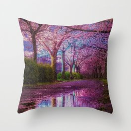 Cherry Blossoms of Spring by Jeanpaul Ferro Throw Pillow