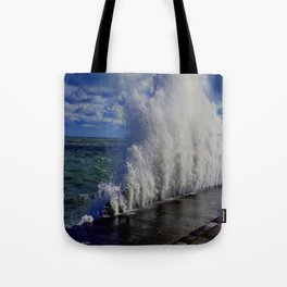 When Sandy Made Waves in Chicago #1 (Chicago Waves Collection) Tote Bag