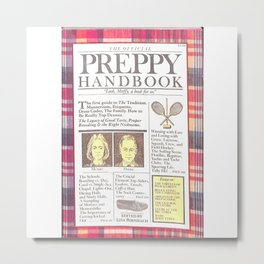 The Preppy Handbook Metal Print