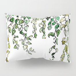 Hanging leaves - watercolor Pillow Sham