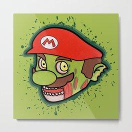 Zombie Mario Metal Print
