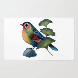 Ginkgo Bird Rug