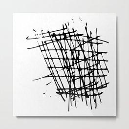 Sketch Black and White Metal Print