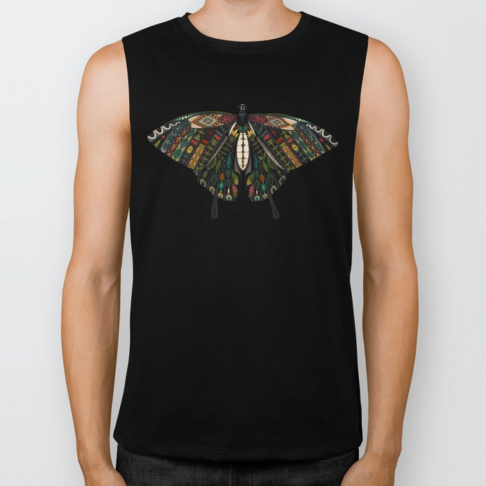 swallowtail butterfly terracotta Biker Tank