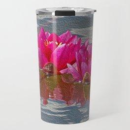 Pink Water Lillies Travel Mug