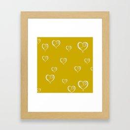 Polka Heart Party, Gold Framed Art Print