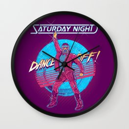 Saturday Night Dance-Off Wall Clock
