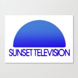 Sunset Television Logo Blue Canvas Print