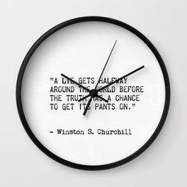 Winston S. Churchill Wall Clock