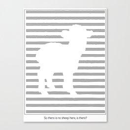 Scanner Darkly Sheep Canvas Print